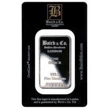 Baird Mint One Ounce Rhodium Bar #31156v3