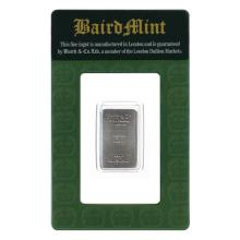 Baird Mint One Tenth Ounce Rhodium Bar #31158v3