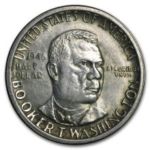 1946-51 P, D or S Booker T Washington Half (Low Grade/Cleaned) #31120v3