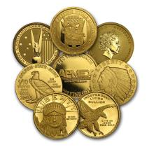 1/10 oz Gold Round - Secondary Market ONELY ONE PEACE PER LOT #22423v3