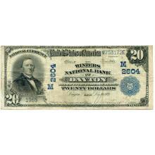1902 $20 National Bank Note Dayton OH Charter #2604 Fine #28776v3