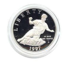 US Commemorative Dollar Proof 1997-S Jackie Robinson #28934v3