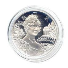 US Commemorative Dollar Proof 1999-P Dolly Madison #28932v3