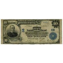 1902 $10 National Banknote Portsmouth Ohio Charter #68 VG #28747v3