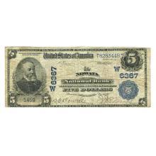 1902 $5 National Banknote Nowata OK Charter #6367 VG-F #28711v3