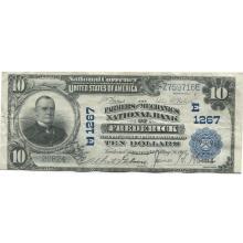 1902 $10 National Banknote Frederick MD Charter #1267 XF #28748v3