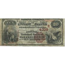 1882 $10 National Bank Note Pittsburgh PA Charter #4339 F #28743v3