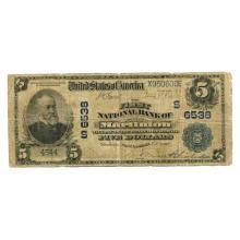 1902 $5 National Banknote Marlinton WV Charter #6538 G-VG #28712v3
