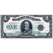 Canada $1 Bank Note 1923 XF-AU #30977v3