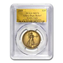 2009 Ultra High Relief Double Eagle MS-70 PCGS (Gold Foil Label) #22658v3