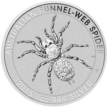 2015 1 oz Australian Silver Funnel Web Spider BU #24348v3