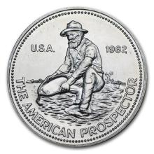 1 oz Silver Round - Engelhard Prospector (Random Year) #21625v3