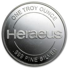 1 oz Silver Round - Heraeus #21635v3