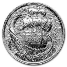2 oz Silver Round - The Kraken #21637v3