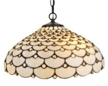 TIFFANY STYLE JEWELED 2-LIGHT HANGING LAMP #10192v3