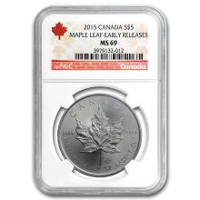 2015 Canada 1 oz Silver Maple Leaf MS-69 NGC (Early Release) #21985v3