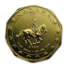 1997 Canada 1 oz Gold Mountie Maple Leaf BU #22927v3