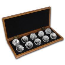 2016 10-Coin Silver 1 oz Around the World Bullion Set BU #21991v3