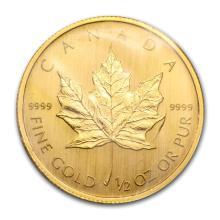 2009 Canada 1/2 oz Gold Maple Leaf BU #22928v3