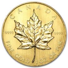 1984 Canada 1 oz Gold Maple Leaf BU #22929v3