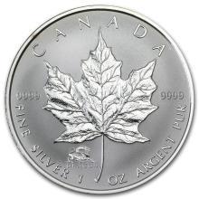 2000 Canada 1 oz Silver Maple Leaf Lunar DRAGON Privy #22004v3