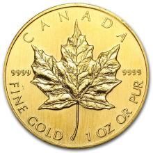 1990 Canada 1 oz Gold Maple Leaf BU #22930v3