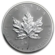 2005 Canada 1 oz Silver Maple Leaf Lunar ROOSTER Privy #21988v3