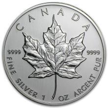 2002 Canada 1 oz Silver Maple Leaf BU #21968v3