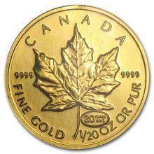 1999 Canada 1/20 oz Gold Maple Leaf BU (20 Years ANS Privy) #22932v3