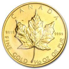 1986 Canada 1/10 oz Gold Maple Leaf BU #22938v3