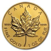 Canada 1 oz Gold Maple Leaf .9999 Fine (Random Year) #22895v3