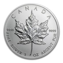 2001 Canada 1 oz Silver Maple Leaf BU #21986v3