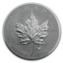 2004 Canada 1 oz Silver Maple Leaf Cancer Zodiac Privy #22000v3