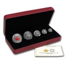 2015 Canada 5-Coin Reverse Proof Silver Maple Fractional Set #21996v3