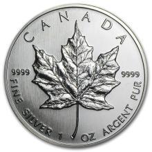 1990 Canada 1 oz Silver Maple Leaf BU #21971v3