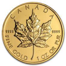 2012 Canada 1 oz Gold Maple Leaf BU #22935v3