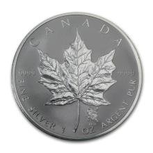 2004 Canada 1 oz Silver Maple Leaf Leo Zodiac Privy #21995v3