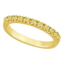 Yellow Canary Diamond Stackable Ring Band 14k Yellow Gold (0.25 ct) #51902v3