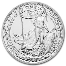 2013 Great Britain 1 oz Silver Britannia BU #22308v3