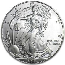 1998 1 oz Silver American Eagle BU #21404v3