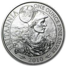 2010 Great Britain 1 oz Silver Britannia BU #22309v3