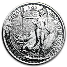 2016 Great Britain 1 oz Silver Britannia BU #22299v3