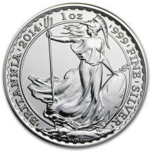 2014 Great Britain 1 oz Silver Britannia BU #22304v3