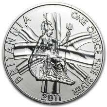 2011 Great Britain 1 oz Silver Britannia BU #22307v3