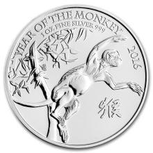 2016 Great Britain 1 oz Silver Year of the Monkey BU #22301v3