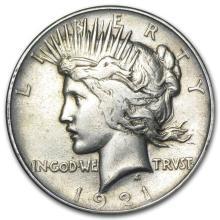 1921 Peace Dollar VG/VF (High Relief) #22081v3