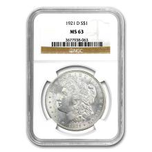 1921-D Morgan Dollar MS-63 NGC #22170v3