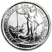 2014 1 oz Silver Britannia BU (w/Year of the Horse Privy Mark) #22303v3