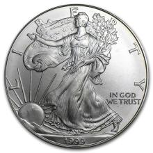 1999 1 oz Silver American Eagle BU #21398v3