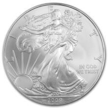 2009 1 oz Silver American Eagle BU #21390v3